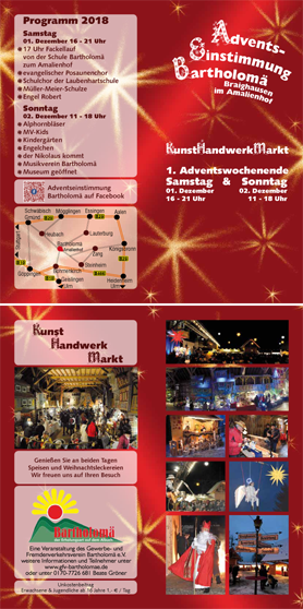 Flyer Adventseinstimmung